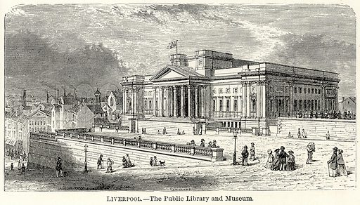 Liverpool.--The Public Library and Museum. Illustration for The World As It Is by George Chisholm (Blackie, 1885).