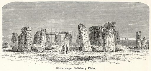 Stonehenge, Salisbury Plain. Illustration for The World As It Is by George Chisholm (Blackie, 1885).