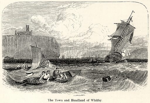 The Town and Headland of Whitby. Illustration for The World As It Is by George Chisholm (Blackie, 1885).