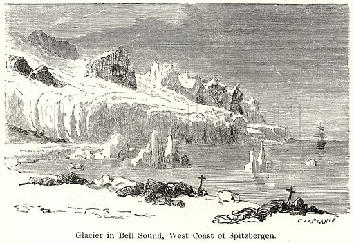 Glacier in Bell Sound, West Coast of Spitzbergen. Illustration for The World As It Is by George Chisholm (Blackie, 1885).