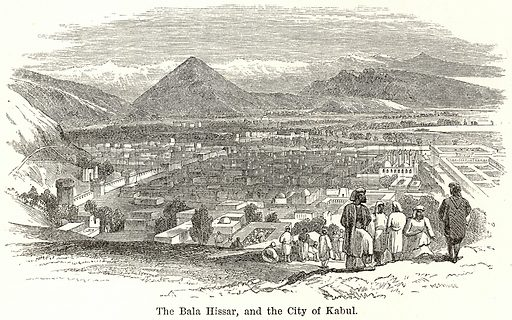 The Bala Hissar, and the City of Kabul. Illustration for The World As It Is by George Chisholm (Blackie, 1885).