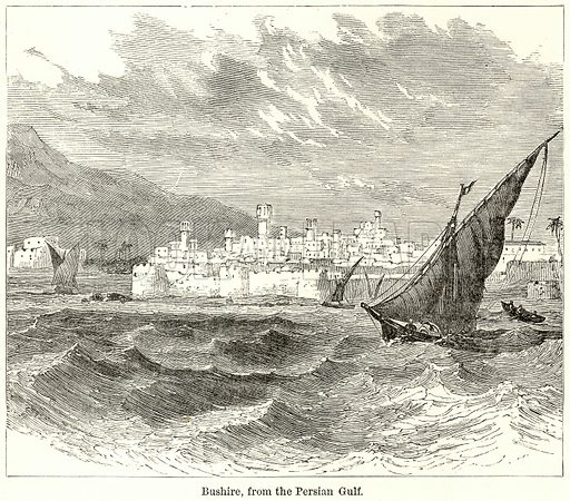 Bushire, from the Persian Gulf. Illustration for The World As It Is by George Chisholm (Blackie, 1885).