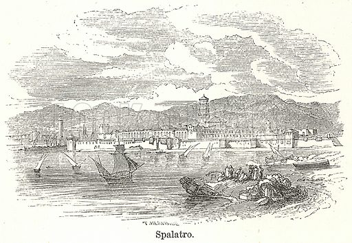 Spalatro. Illustration for The World As It Is by George Chisholm (Blackie, 1885).