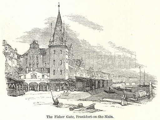 The Fisher Gate, Frankfort-on-the-Main. Illustration for The World As It Is by George Chisholm (Blackie, 1885).