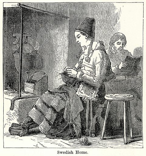 Swedish Home. Illustration for The World As It Is by George Chisholm (Blackie, 1885).
