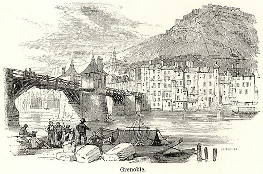 Grenoble. Illustration for The World As It Is by George Chisholm (Blackie, 1885).