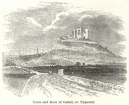 Town and Rock of Cashel, Co Tipperary. Illustration for The World As It Is by George Chisholm (Blackie, 1885).