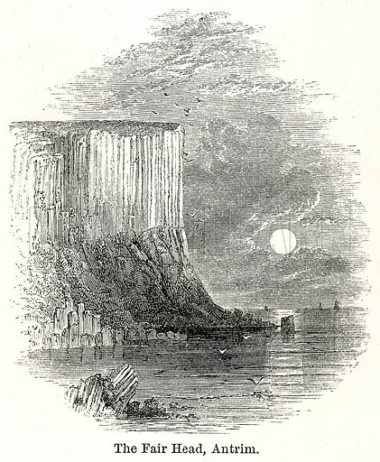 The Fair Head, Antrim. Illustration for The World As It Is by George Chisholm (Blackie, 1885).