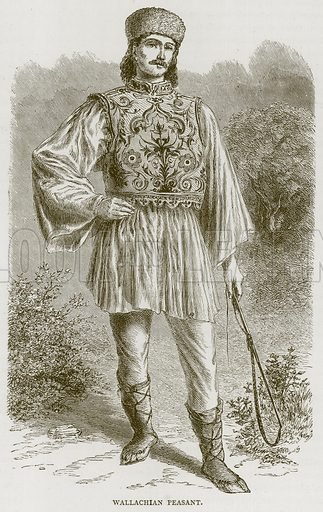 Wallachian Peasant. Illustration from Illustrated Travels edited by HW Bates (Cassell, c 1880).