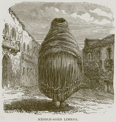 Middle-Aged Limena. Illustration from Illustrated Travels edited by H W Bates (Cassell, c 1880).