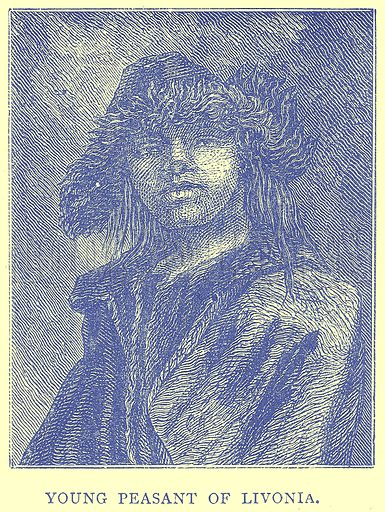 Young Peasant of Livonia. Illustration from Illustrated Travels edited by H W Bates (Cassell, c 1880).