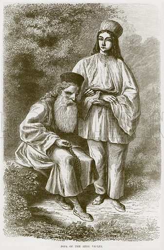 Popa of the Szill Valley. Illustration from Illustrated Travels edited by H W Bates (Cassell, c 1880).