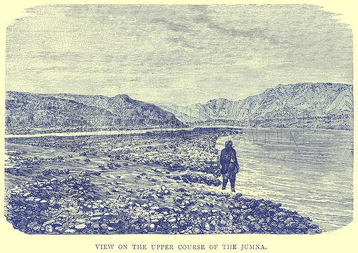 View on the Upper Course of the Jumna. Illustration from Illustrated Travels edited by H W Bates (Cassell, c 1880).