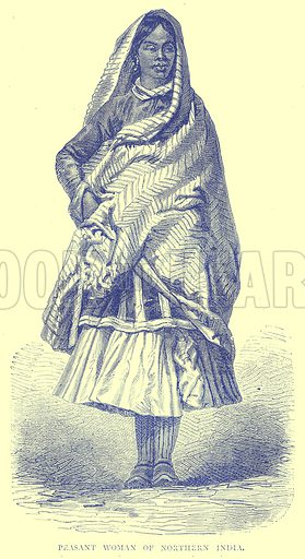 Peasant Woman of Northern India. Illustration from Illustrated Travels edited by H W Bates (Cassell, c 1880).
