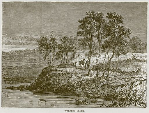 Warrego Creek. Illustration from Illustrated Travels edited by H W Bates (Cassell, c 1880).