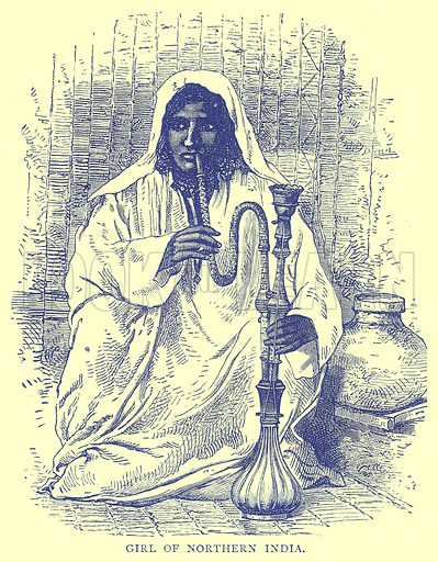 Girl of Northern India. Illustration from Illustrated Travels edited by H W Bates (Cassell, c 1880).