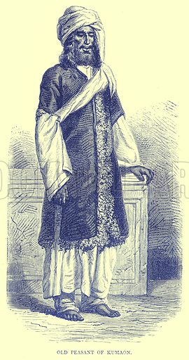 Old Peasant of Kumaon. Illustration from Illustrated Travels edited by H W Bates (Cassell, c 1880).