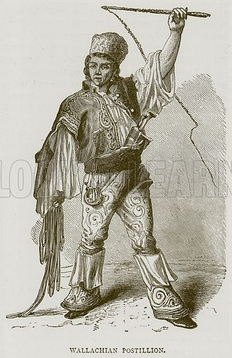 Wallachian Postillion. Illustration from Illustrated Travels edited by H W Bates (Cassell, c 1880).