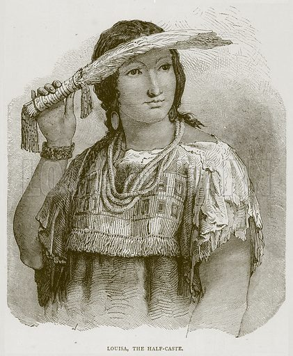 Louisa, the Half-Caste. Illustration from Illustrated Travels edited by H W Bates (Cassell, c 1880).