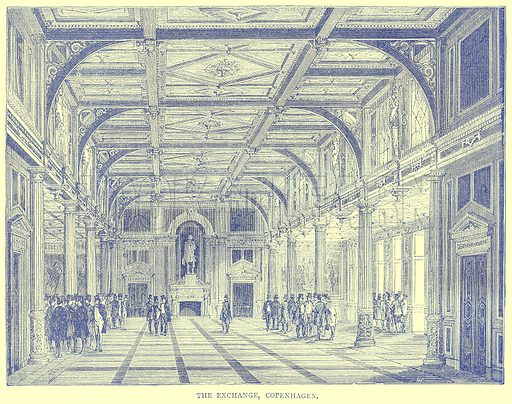 The Exchange, Copenhagen. Illustration from Illustrated Travels edited by H W Bates (Cassell, c 1880).