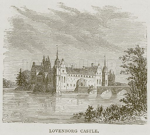 Lovenborg Castle. Illustration from Illustrated Travels edited by HW Bates (Cassell, c 1880).