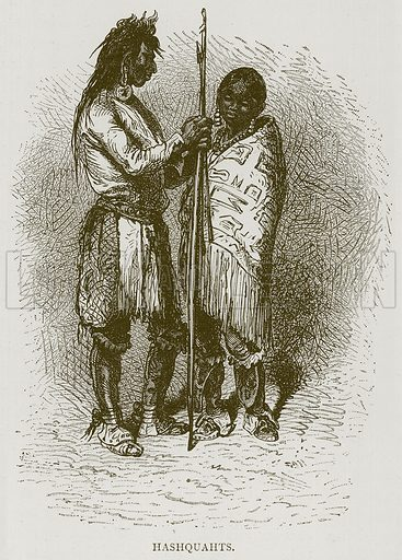 Hashquahts. Illustration from Illustrated Travels edited by H W Bates (Cassell, c 1880).