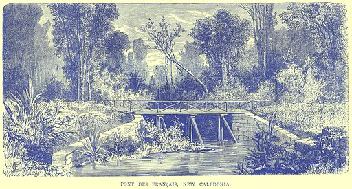 Pont Des Francais, New Caledonia. Illustration from Illustrated Travels edited by H W Bates (Cassell, c 1880).