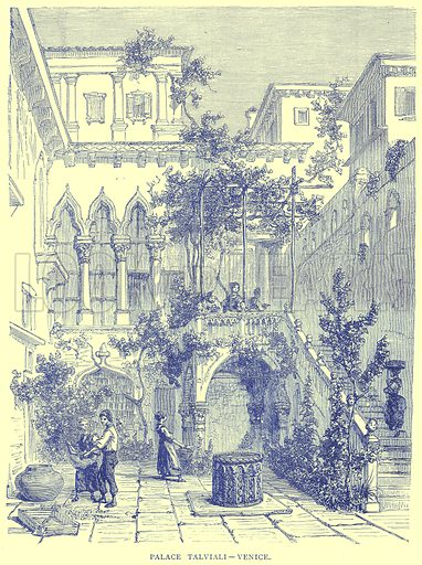 Palace Talviali--Venice. Illustration from Illustrated Travels edited by H W Bates (Cassell, c 1880).
