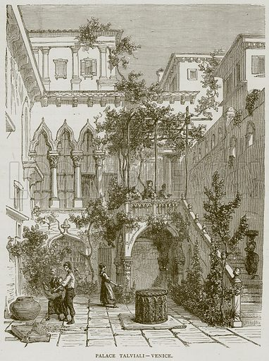 Palace Talviali – Venice. Illustration from Illustrated Travels edited by HW Bates (Cassell, c 1880).
