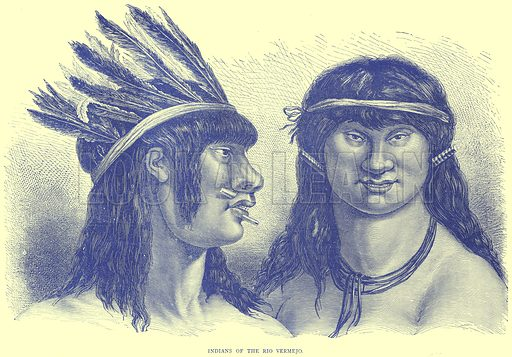 Indians of the Rio Vermejo. Illustration from Illustrated Travels edited by H W Bates (Cassell, c 1880).