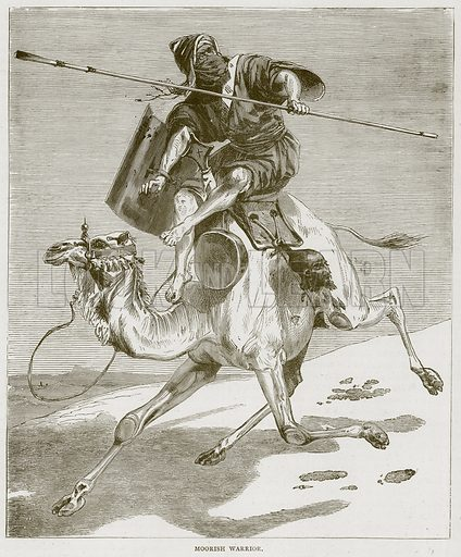Moorish Warrior. Illustration from Illustrated Travels edited by H W Bates (Cassell, c 1880).