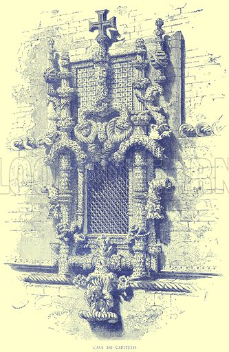 Casa Do Capitulo. Illustration from Illustrated Travels edited by H W Bates (Cassell, c 1880).