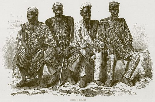 Negro Pilgrims. Illustration from Illustrated Travels edited by H W Bates (Cassell, c 1880).
