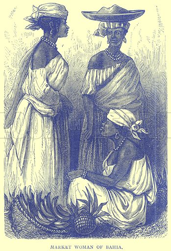 Market Woman of Bahia. Illustration from Illustrated Travels edited by H W Bates (Cassell, c 1880).