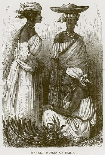 Market Woman of Bahia. Illustration from Illustrated Travels edited by HW Bates (Cassell, c 1880).