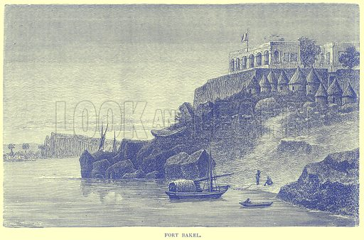 Fort Bakel. Illustration from Illustrated Travels edited by H W Bates (Cassell, c 1880).