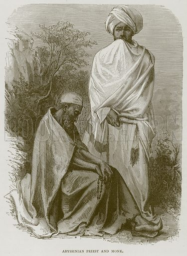 Abyssinian Priest and Monk. Illustration from Illustrated Travels edited by HW Bates (Cassell, c 1880).