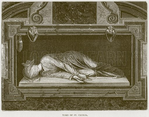 Tomb of St. Cecilia. Illustration from Illustrated Travels edited by H W Bates (Cassell, c 1880).