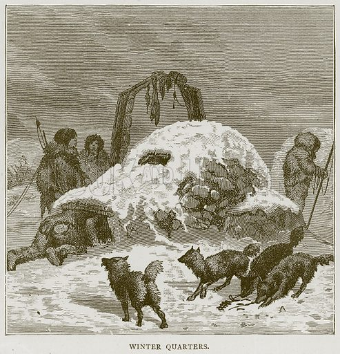 Winter Quarters. Illustration from Illustrated Travels edited by HW Bates (Cassell, c 1880).