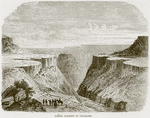 Canon Scenery in Colorado. Illustration from Illustrated Travels edited by H W Bates (Cassell, c 1880).