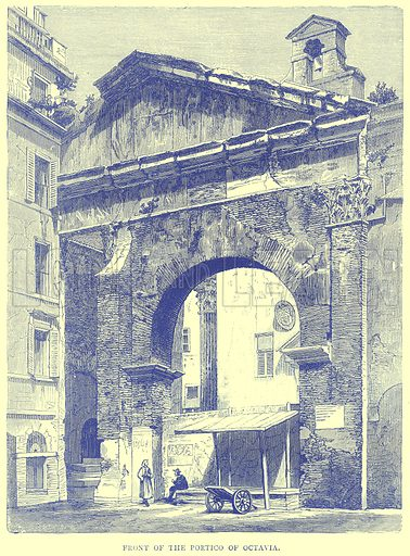 Front of the Portico of Octavia. Illustration from Illustrated Travels edited by H W Bates (Cassell, c 1880).