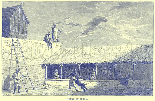 House at Segou. Illustration from Illustrated Travels edited by H W Bates (Cassell, c 1880).