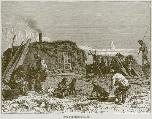 Near Frederickshaab. Illustration from Illustrated Travels edited by H W Bates (Cassell, c 1880).