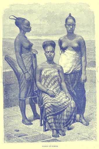 Women of Elmina. Illustration from Illustrated Travels edited by H W Bates (Cassell, c 1880).