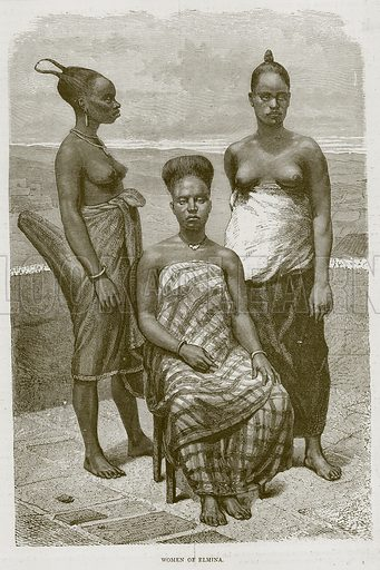 Women of Elmina. Illustration from Illustrated Travels edited by HW Bates (Cassell, c 1880).