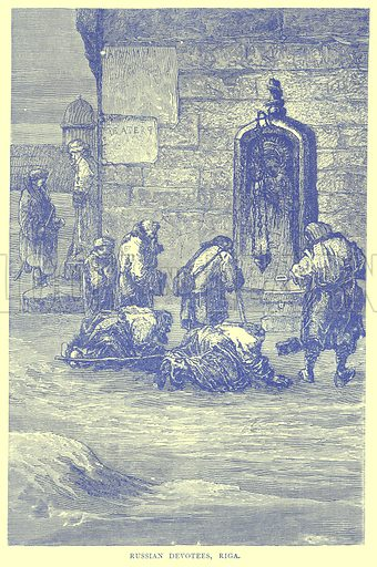 Russian Devotees, Riga. Illustration from Illustrated Travels edited by H W Bates (Cassell, c 1880).