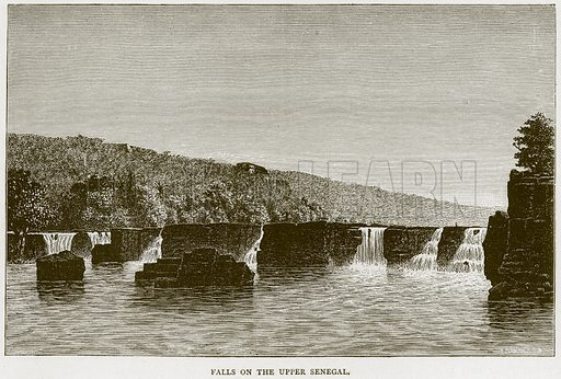 Falls on the Upper Senegal. Illustration from Illustrated Travels edited by HW Bates (Cassell, c 1880).