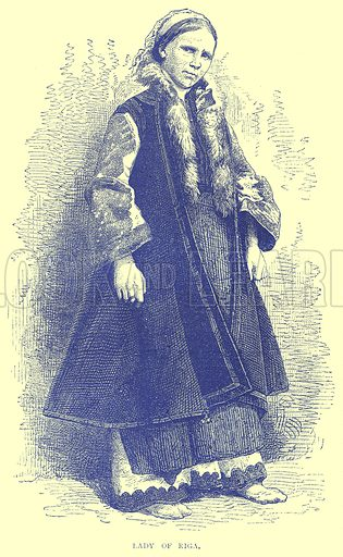 Lady of Riga. Illustration from Illustrated Travels edited by H W Bates (Cassell, c 1880).