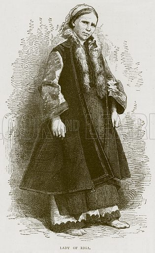 Lady of Riga. Illustration from Illustrated Travels edited by HW Bates (Cassell, c 1880).