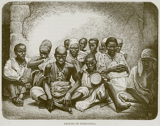 Negroes of Senegambia. Illustration from Illustrated Travels edited by H W Bates (Cassell, c 1880).